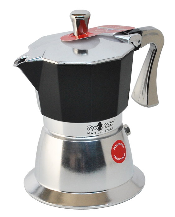 Italian Coffee Maker For Induction Hob. Bialetti Elegance Venus Induction 6 Cup Stainless Steel ...