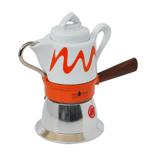 orange Induktionskaffeemaschine Top Moka goccia