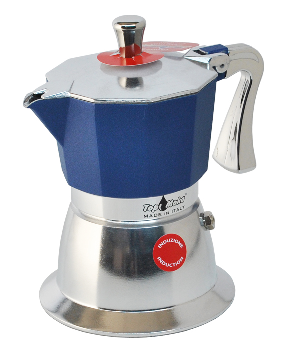 blaue Induktionskaffeemaschine Super Top