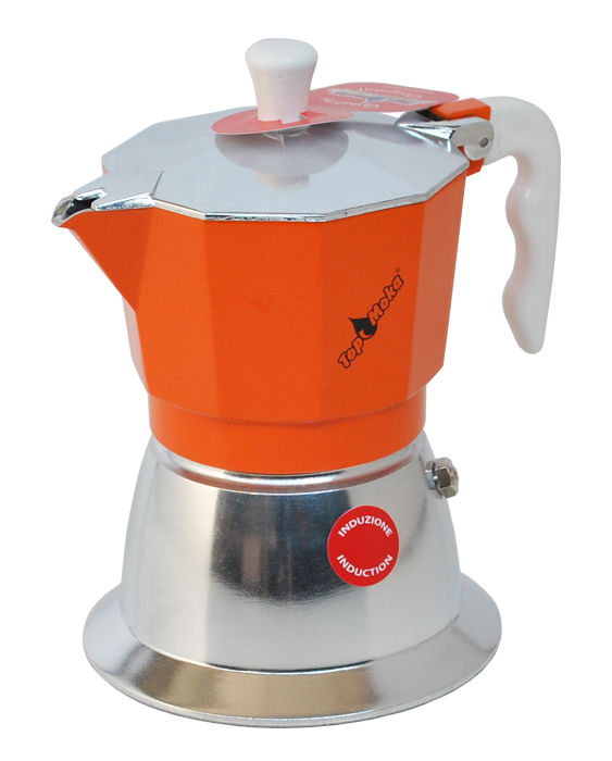 orange Induktionskaffeemaschine Top
