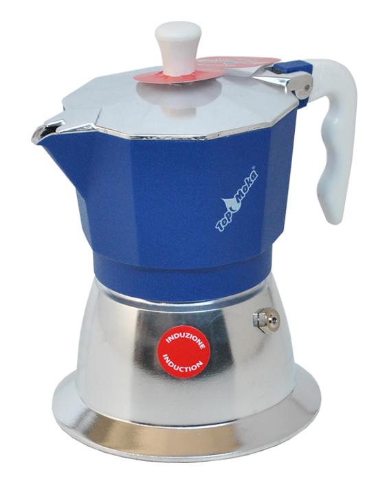 blaue Induktionskaffeemaschine Top