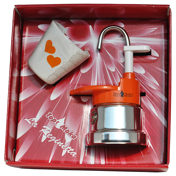 Reginetta Packung Top Moka You & Me Kaffeemaschine  1 tasse orange