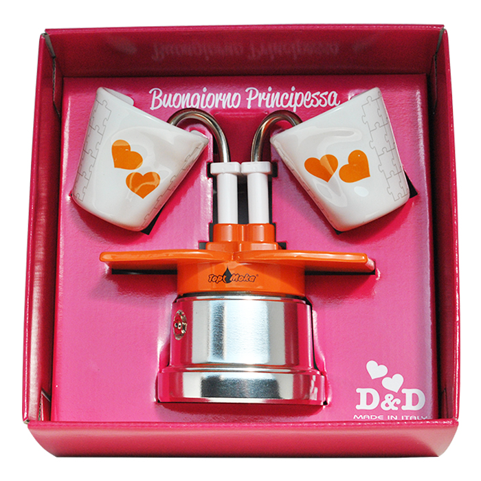 Prinzessin Packung Top Moka You & Me Kaffeemaschine 2 Tassen